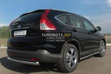 Honda CR-V 2013 пороги труба d63 (вариант 3) HVT-0013403